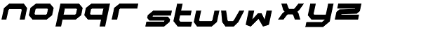 Rally-Italic-Regular Font LOWERCASE