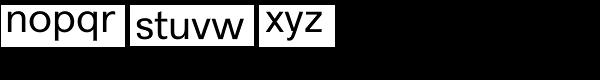 Recta Font LOWERCASE