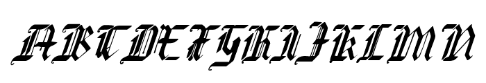 Redcoat Condensed Italic Font UPPERCASE