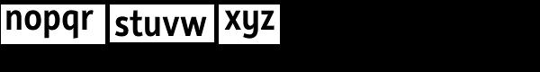 Rehn Condensed Medium Font LOWERCASE