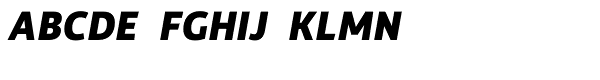 Rehn ExtraBold Italic Font UPPERCASE