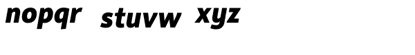 Rehn ExtraBold Italic Font LOWERCASE