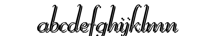 Reliant Shadow Free Font LOWERCASE