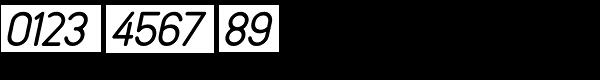 Rendering Oblique JNL Font OTHER CHARS