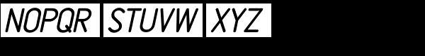 Rendering Oblique JNL Font UPPERCASE