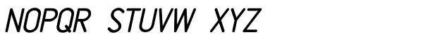 Rendering Oblique JNL Font LOWERCASE