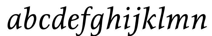 Resavska BG-Italic Font LOWERCASE