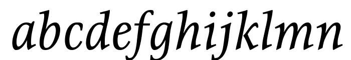 Resavska BG YU-Italic Font LOWERCASE
