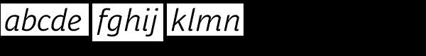 Respublika FY Light Italic Font LOWERCASE