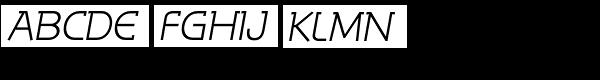 Reto Italic Font UPPERCASE