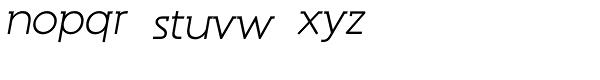 Reto Italic Font LOWERCASE