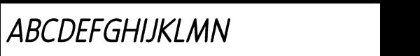 Revalo Modern Regular Italic Font UPPERCASE