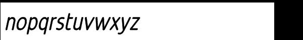 Revalo Modern Regular Italic Font LOWERCASE
