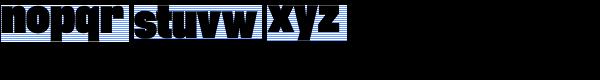 Rhode Black Condensed Font LOWERCASE