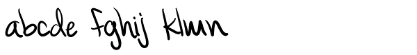 Rich Handwriting Font LOWERCASE