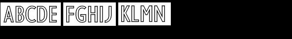 RM Sans Condensed Heavy Outline Font UPPERCASE