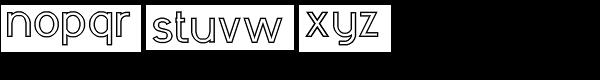 RM Sans Heavy Outline Font LOWERCASE