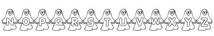 rmghost4  graphic Font UPPERCASE
