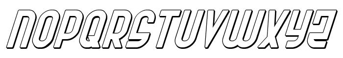 Ro'Ki'Kier Shadow Italic Font LOWERCASE