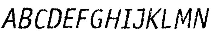 Rosango Italic Font UPPERCASE