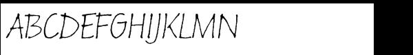 Russell Oblique™ Std Informal Font UPPERCASE