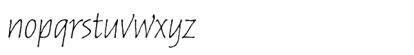 Russell Oblique™ Std Informal Font LOWERCASE