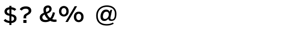 Salvo Sans Regular Font OTHER CHARS
