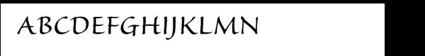 Sanvito Pro Regular Font UPPERCASE