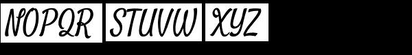 Satisfy Pro Font UPPERCASE