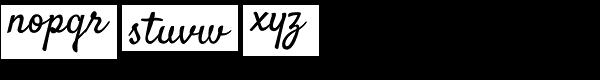 Satisfy Pro Font LOWERCASE