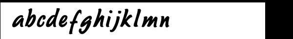 Sayer Script Bold Font LOWERCASE
