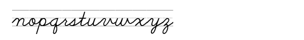 School Script Dashed Font LOWERCASE