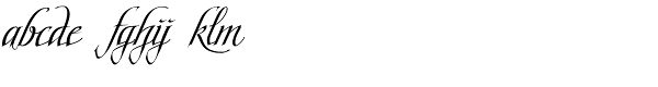 Scriptissimo-End Font LOWERCASE