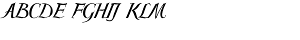 Scriptissimo Forte-Middle Font UPPERCASE
