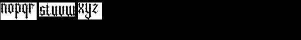 Sepian Font LOWERCASE