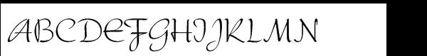 Serena Regular Font UPPERCASE