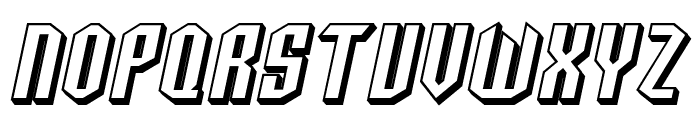SF Archery Black SC Shaded Oblique Font UPPERCASE