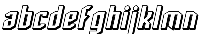 SF Archery Black Shaded Oblique Font LOWERCASE