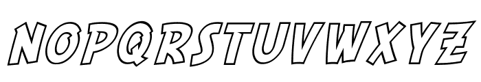 SF Comic Script Outline Font UPPERCASE