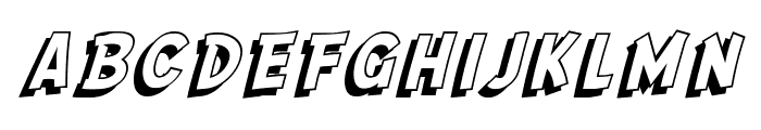 SF Comic Script Shaded Font LOWERCASE