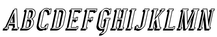 SF Covington SC Shadow Italic Font UPPERCASE