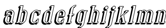 SF Covington Shadow Italic Font LOWERCASE