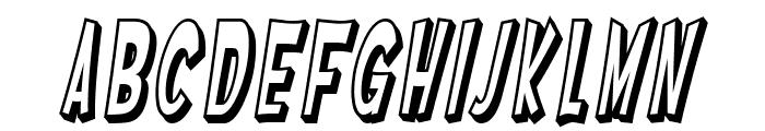 SF Ferretopia Shaded Oblique Font LOWERCASE
