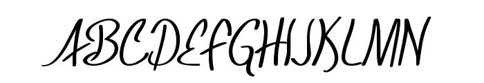 SF Foxboro Script Font UPPERCASE