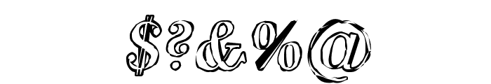 SF Phosphorus Oxide Font OTHER CHARS