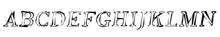 SF Phosphorus Oxide Font UPPERCASE