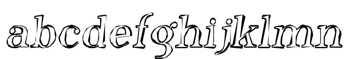 SF Phosphorus Oxide Font LOWERCASE