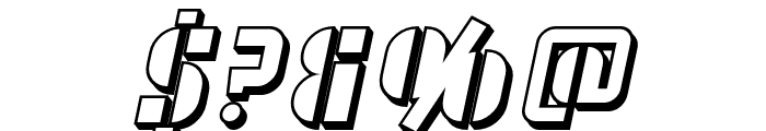 SF RetroSplice SC Shaded Font OTHER CHARS