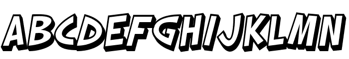 SF Slapstick Comic Shaded Oblique Font UPPERCASE