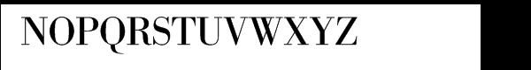 SG Bodoni No. 1 SH Regular Font UPPERCASE